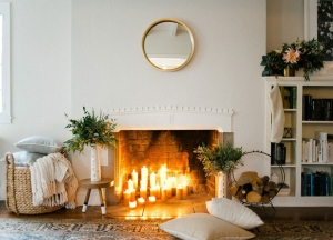 hygge smiles fireplace